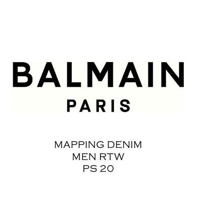 2020春夏_BALMAIN_牛仔裤_欧洲大牌资料