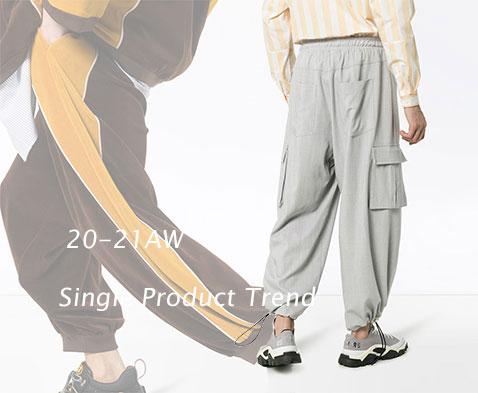 20-21秋冬男装单品零售分析—微潮裤装
