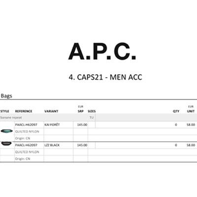 2021春夏_A.P.C_配件_欧洲大牌资料