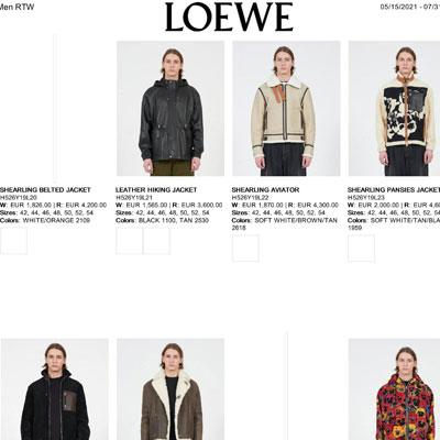 2021秋冬_Loewe_欧洲大牌资料